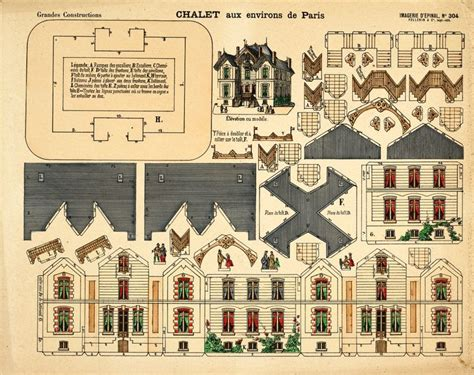 printable miniature house template victorian paper house template google search paper