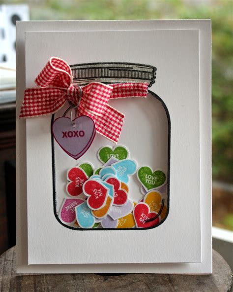 how to make a shaker card hearts shaker card