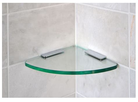 Glass Shelf For Shower by Floating Glass Shelves Glass Corner Shelves