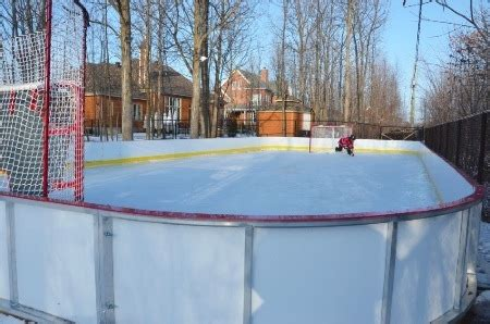 backyard hockey rink boards win a rink video contest 2013 14