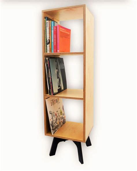 retro bookcase vinyl record storage mid century modern
