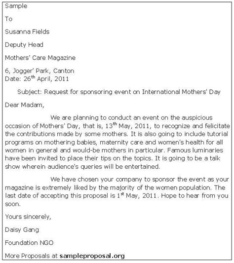 Response Sponsor Letter Response Letter Response Letter Template 7