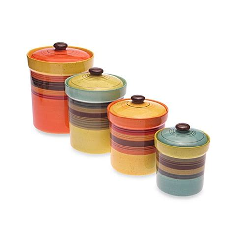bed bath and beyond canisters certified international sedona 4 piece canister set bed