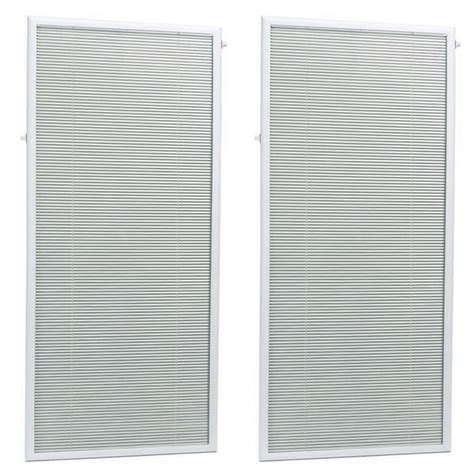 Add On Blinds For Patio Doors Add On Blinds For Patio Doors Odl White Cordless Add On Enclosed Blind With 1 2 In Wide