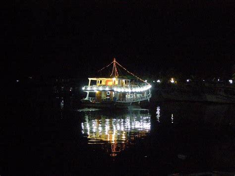 squid fishing at night from a boat night squid fishing