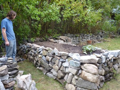 rock beds kokanee home renovations raised garden bed stage 1