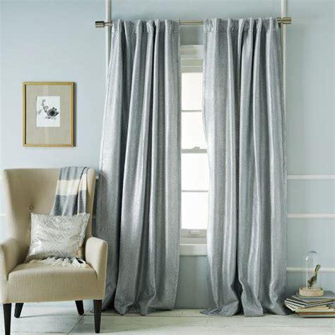metallic drapes metallic basketweave curtain silver west elm