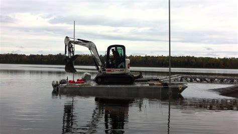 national aluminum boat trailers technominex 12 ton trailer folding barge youtube