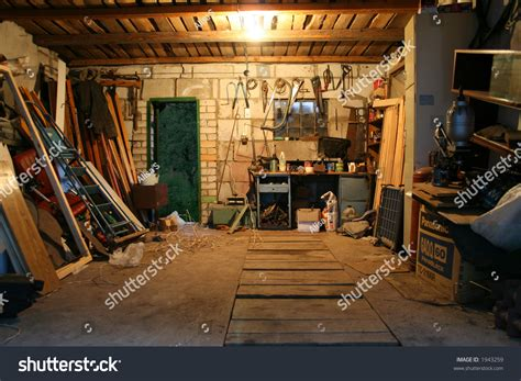 Home Interior Wall Hangings Old Garage Full Tools Stuff Stock Photo 1943259 Shutterstock