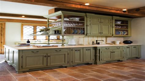 antique green kitchen cabinets mediterranean kitchen cabinets olive green kitchen walls