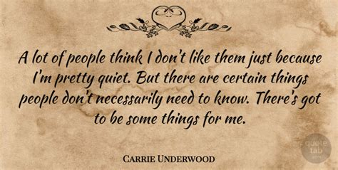 Just Because I Like Them by Carrie Underwood A Lot Of Think I Don T Like Them