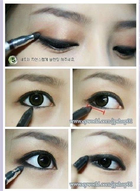 tutorial eyeliner korean asian eyes makeup tutorials and black eyeliner on pinterest