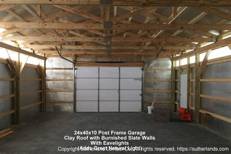 2 car post frame garage with attic customer projects customer project photo gallery pole barns