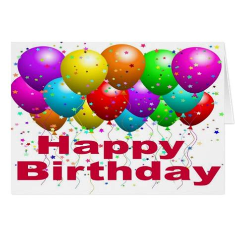Landscape Birthday Pictures Ballons Birthday Card Landscape Zazzle