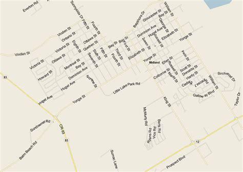 midland map ontario listings canada