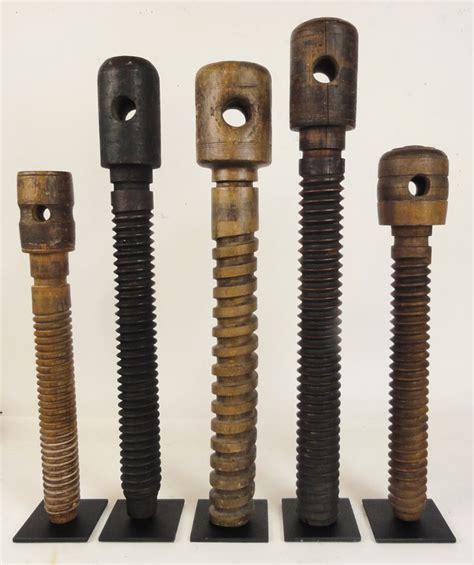 antique wooden vise screws  woodworkers  carpenters
