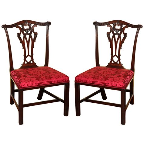 antique chippendale chairs set four antique chippendale period mahogany side chairs
