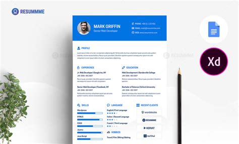 Web Developer Resume Template by Best Resume Templates Ms Word Psd Ai Resummme