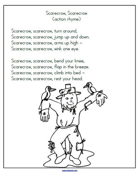 pattern poem kindergarten 268 best scarecrow theme images on pinterest scarecrows