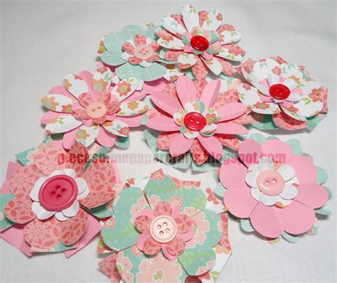 Flower Paper Craft - pieces of me scrapbooking paper crafts paper flowers