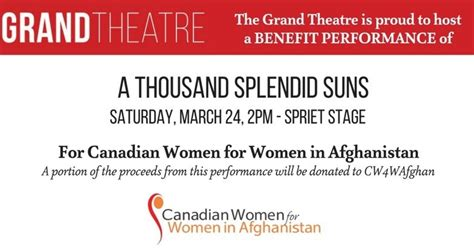 a thousand splendid suns book report tickets still available benefit performance of quot a