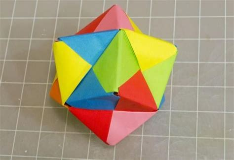 Origami Geometry Project - modular origami how to make a cube octahedron