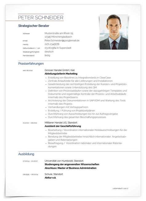 Lebenslauf Neu by Tabellarischer Lebenslauf Vorlagen Muster Und Tipps