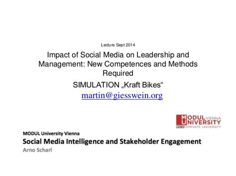 Mba Lecture Timing by Mba Lecture Simulation Quot Impact Of Social Media On