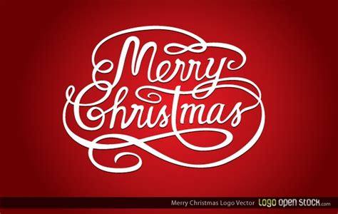 merry christmas logo vector free download