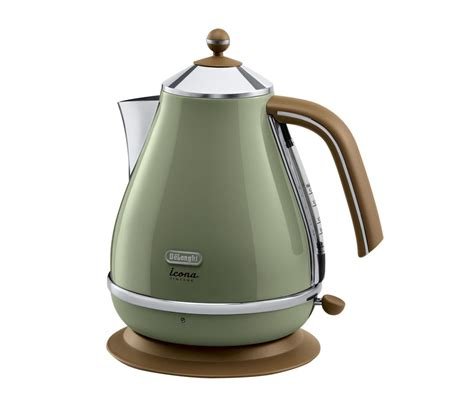 buy delonghi icona vintage kbov3001gr jug kettle olive green free delivery currys