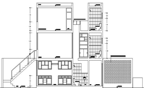 building floor plan detail and elevation view detail dwg file single family house plan and elevation details dwg file