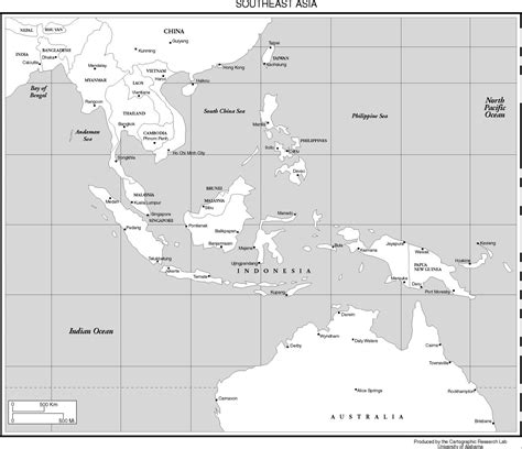southeast asia map with capitals political map southeast asia capitals