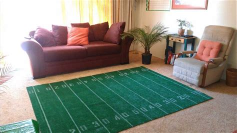 how to make a bowl football field area rug diy