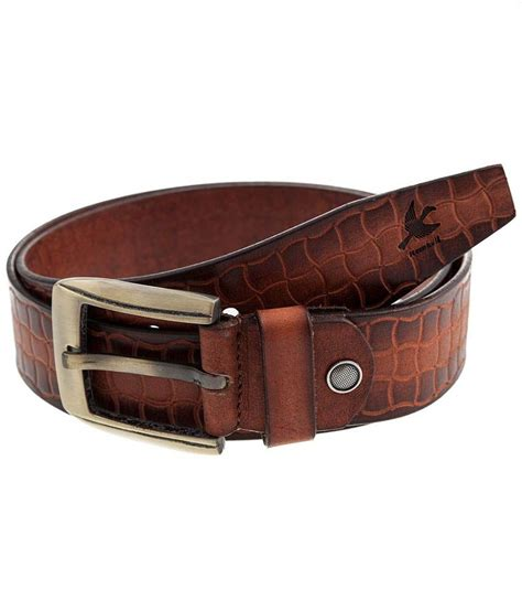 hornbull brown leather casual belt buy at low