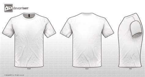 White Tee Templates Png By Sleeprobber On Deviantart Concert T Shirt Template