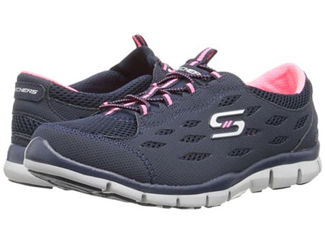Skechers Place by Skechers Gratis Going Places Navy Pink 6pm