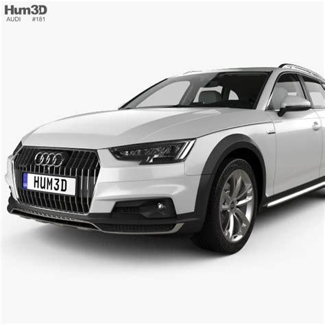 audi a4 b9 interior audi a4 b9 allroad with hq interior 2017 3d model hum3d
