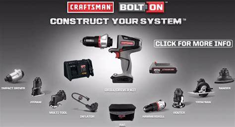 craftsman bolt  modular power tool system