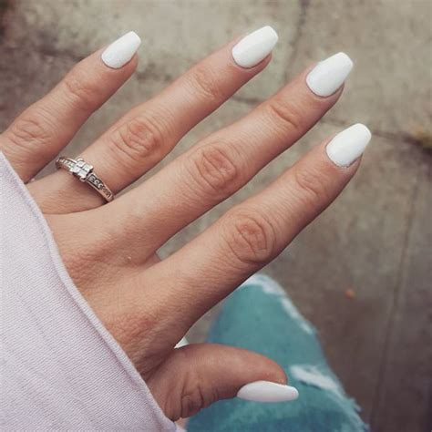 short coffin nails with american manicure short nail art simple coffin nails ideas pictures to pin on pinterest