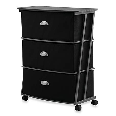 bed bath and beyond drawers studio 3b 3 drawer wide storage cart in black bed bath