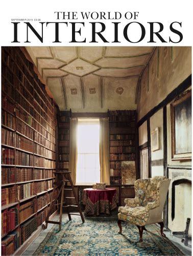world  interiors september  cover interiors