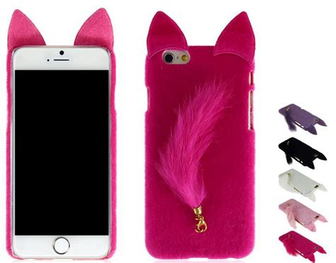 iphone   case cute fluffy plush iphone  cases  iphone      furry fur ears