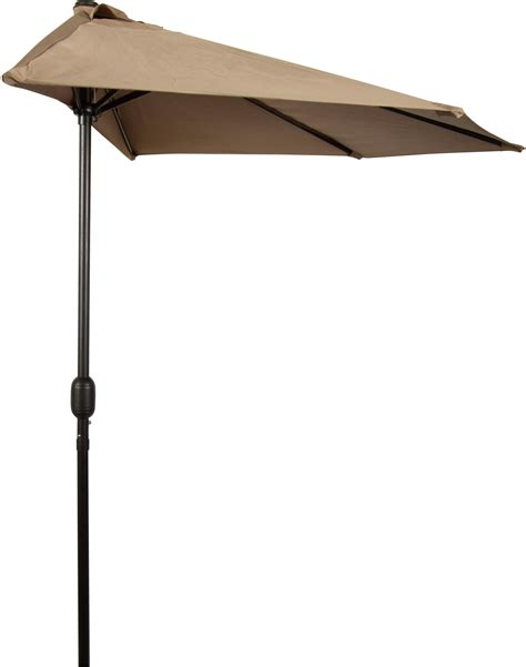 Half Patio Umbrella Patio Half Umbrella 9 By Trademark Innovations Garden Outdoor