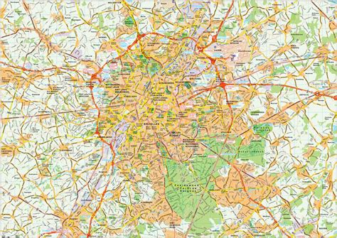 map of central brussels brussels map vector illustrator eps city country maps