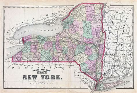 america map new york large detailed administrative map of new york state