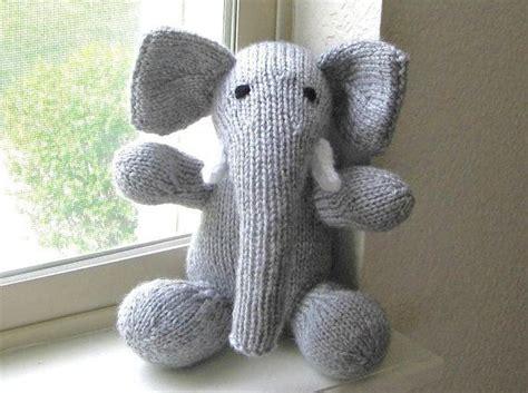 how to knit stuffed animals stuffed elephant knit stuffed animal plush doll