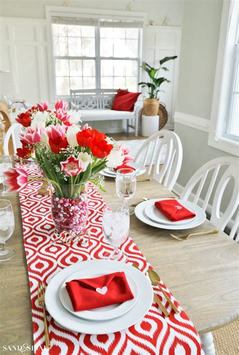 valentines day table s day table setting with envelope napkin fold