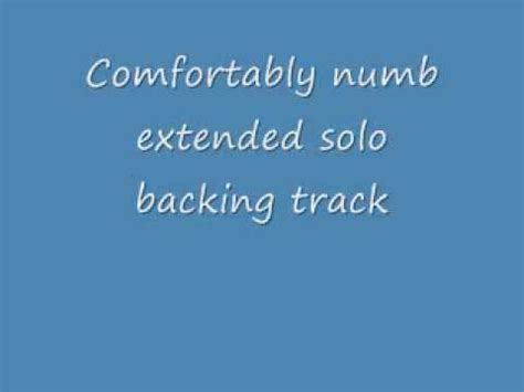 comfortably numb backing track comfortably numb backing track extended solo youtube