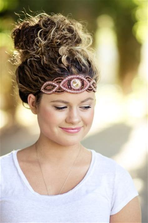 headband curly hairstyles 11 quick easy headband hairstyles for naturally curly