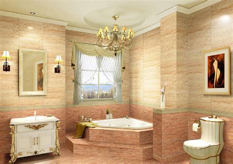 Imitation wood tiles bathroom neo classical style interior design